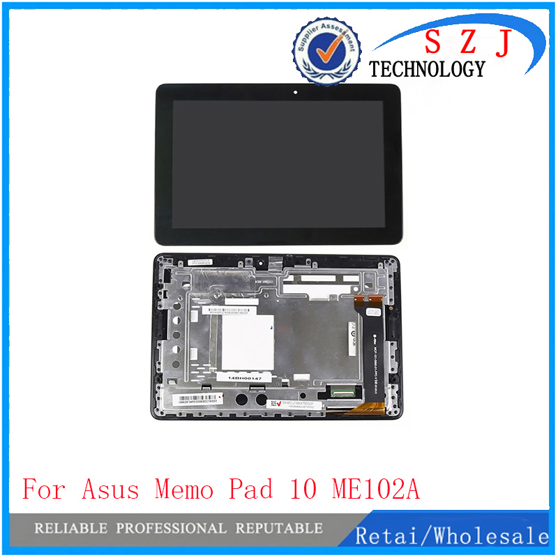 New 10.1'' inch For Asus MeMo Pad 10 ME102 ME102A V2.0 V3.0 LCD Display Touch Screen Assembly Panel MCF-101-0990-01-FPC-V3.0 lcd display screen touch screen digitizer frame assembly for asus memo pad me302s me302kl k00a 5425n fpc 1 tablet me302c