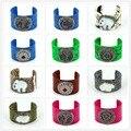 2017 New Brand Women Jewelry Natural python Leather Pearl Pattern Bangles Inlay Rhinestone Open Cuff Pattern Bangles Bohemia