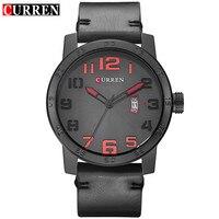 2017 Curren Watch Mens Brand Luxury Leather Strap Black Quartz Watch Men S Fashion Casual Sport