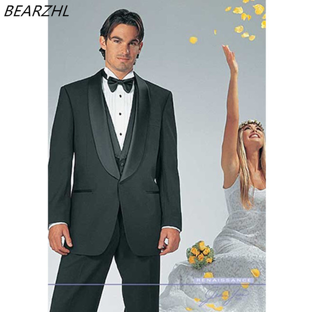 mens tuxedo suits wedding suits for black men suit 3 piece custom ...