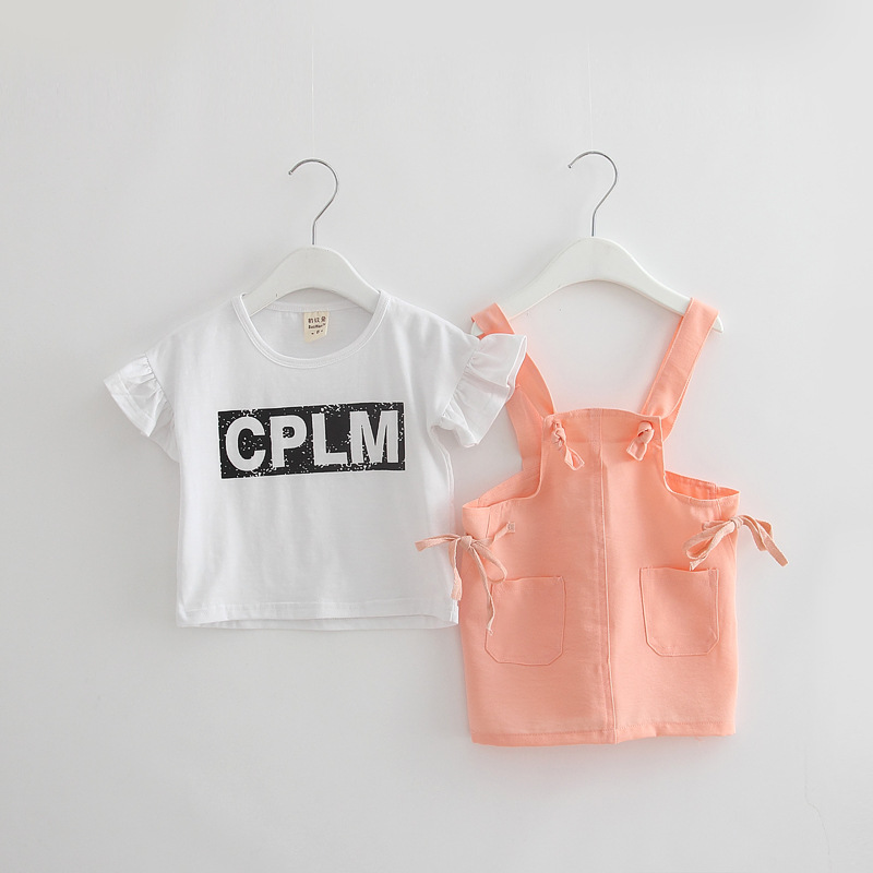 2-6T Baby Girls Clothes Letter Tops + Bow Jumper Pants Clothing Set Children Clothing Two Piece Kids Clothes Outfits