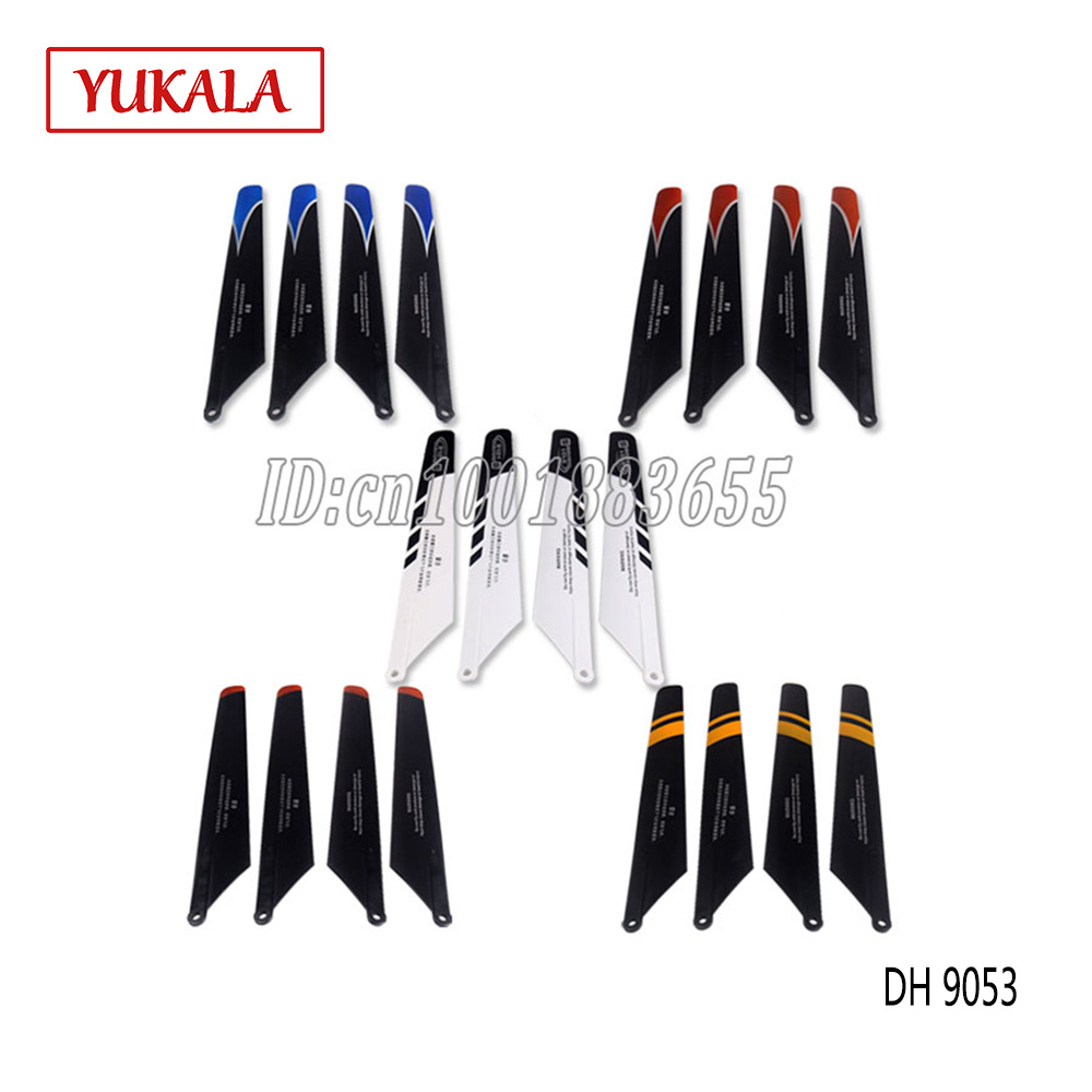 5 Colors Free shipping DH 9053 RC Helicopter DH9053-04 spare part accessories propeller flying blade main rotor part (1 set = 4) 2015 free shipping 1pair 2pcs dji inspire11345 self tightening propeller for diy quadcopter remote control helicopter spare part