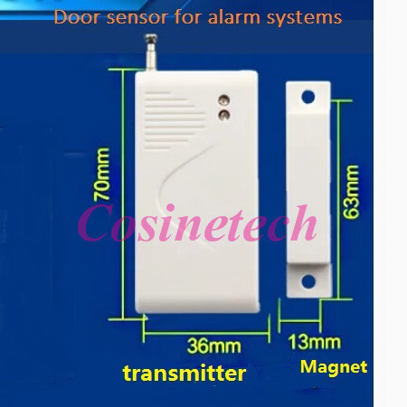 imágenes para 5 UNIDS 433/315 MHZ ventana/puerta de contacto, SC2262 EV1527, sensor magnético de La Puerta, sistemas de alarma de la puerta ventana del sensor de alarma para el hogar seguro