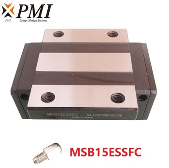 4pcs Original Taiwan PMI MSB15E-N MSB15ESSFC N  linear guideway slide block Carriage for CO2 laser machine CNC router MSB15E