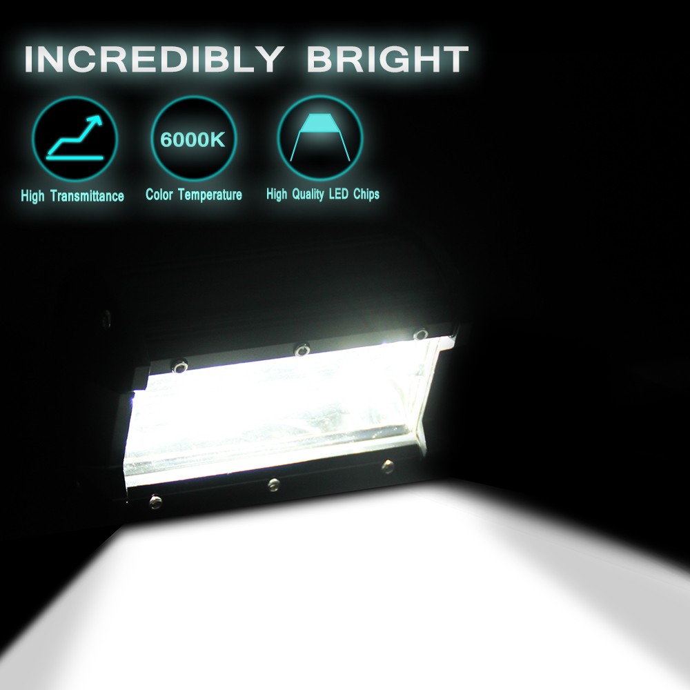 Image 3 - 5 Inch 72W Four Rows Led Light Bar 6000K 10800LM Car Work Light Outdoor Modified Off Road Roof Light Bar Daytime Running Lights-in Light Bar/Work Light from Automobiles & Motorcycles