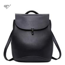 Hd новые моды для женщин рюкзаки сумка высокое качество искусственная кожа корейский стиль женский рюкзак подростков студент школьные сумки