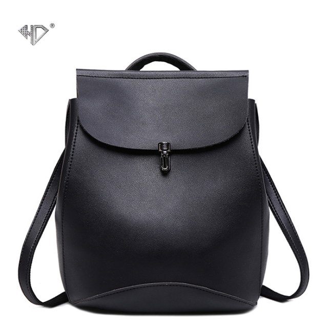 HD New Fashion Women Backpacks Shoulder Bag High Quality PU Leather Korean Style  Female Backpack Teenagers Student School Bags 2c672daa2a
