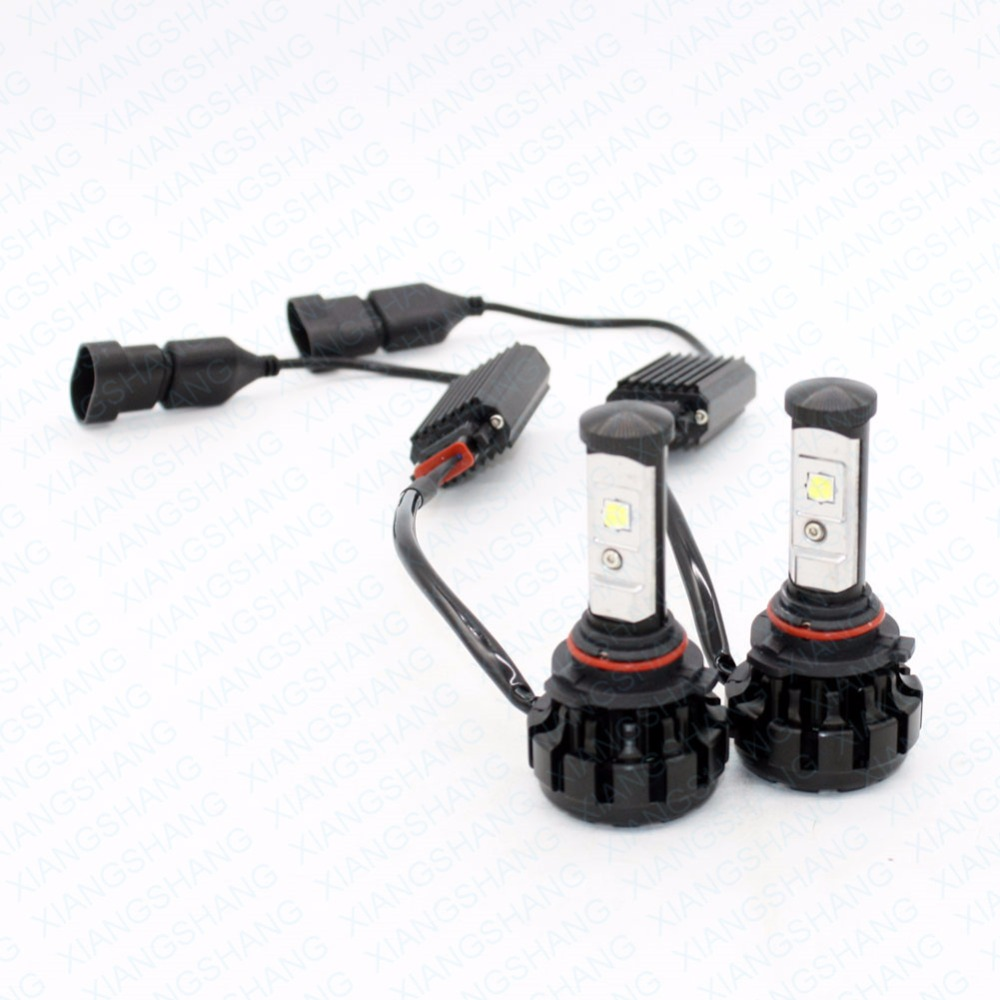 XIANGSHANG 8000LM Super Bright Car LED Headlight Conversion Kit HB4 9006 Cree Chips Replacement Auto Head Lamp Bulb 3000K 4300K 2pcs x7 led car headlights led 80w 7200lm 880 super bright cree led ledheadlight all in one conversion kit 6000k pure white