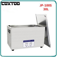 COXTOD JP 100S Ultrasound Cleaner Washer 30L Tank Baskets Jewelry Injector Ring Dental PCB Digital Ultrasonic Bath Clean