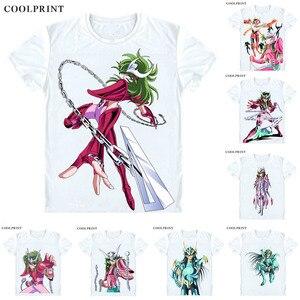Футболка с надписью «Andromeda Shun Andoromeda no Shun», Повседневная футболка с принтом «Рыцари Зодиака», футболка премиум-класса, футболки с короткими р...