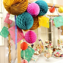 20cm Tissue Paper Honeycomb Balls For Birthday Party Supplies Marriage Wedding Decorations Events Festival