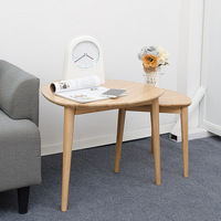 Nordic Fashion Home Living Room Furniture Nesting Side Table Balcony Set of 2 Coffee End Tables Solid Bamboo Sofa Side Table