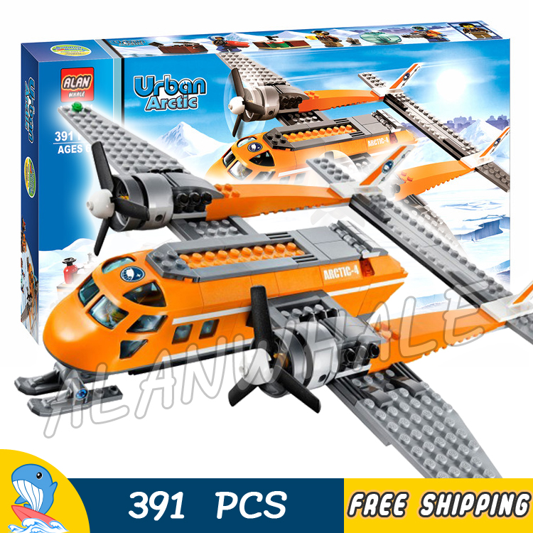 391pcs City Arctic Supply Plane Ice Utility Vehicle 10441 Model Building Blocks Children Assemble Toy Brick Compatible with Lego