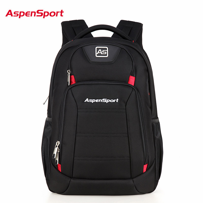 AspenSport Men Laptop Backpacks Large Computer Bags Fit under 16 Inch Travel Notebook Waterproof for College school Boy Black image