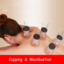 SHARE HO Moxibustion Acupuntura Points Anti-broken Vacuum Cans With Burning Moxa Artemisia Heating Therapy Chinese Cupping share ho reuse base moxa mini stick chinese therapy moxibustion stickers acupuntura double moxa artemisia self stick