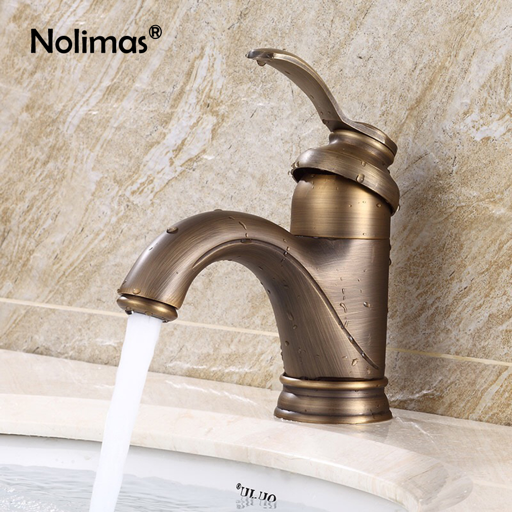все цены на Antique Basin Faucets Bathroom Sink Faucet Deck Mounted Water Tap Antique brass Single Handle Single Hole Toilet Faucet