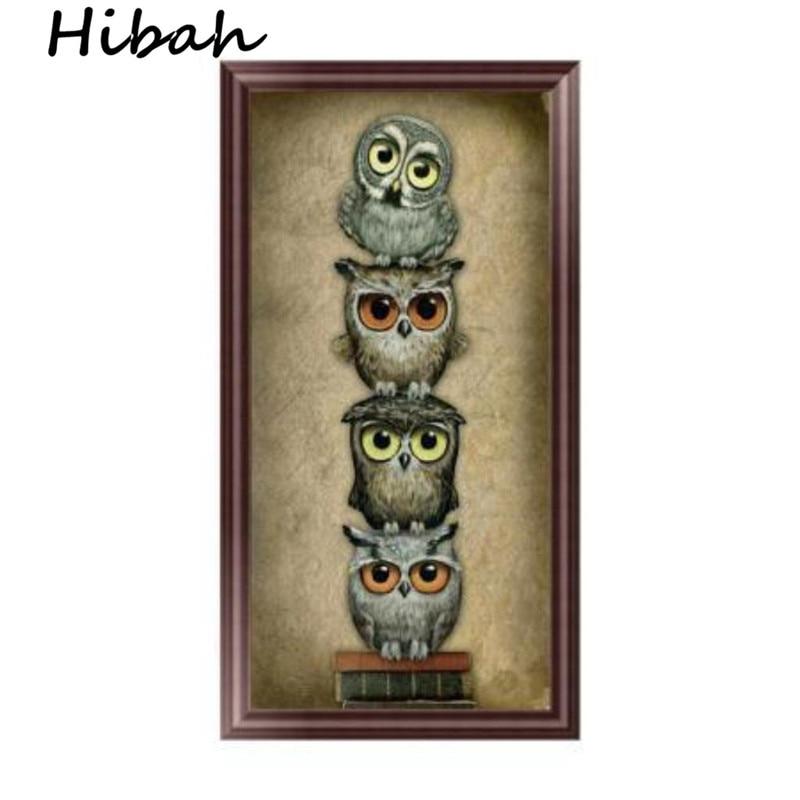 5D DIY New Animal Owl Diamond Embroidered Diamond Picture Stitch Embroidered Picture Rhinestone Round Diamond Mosaic Set