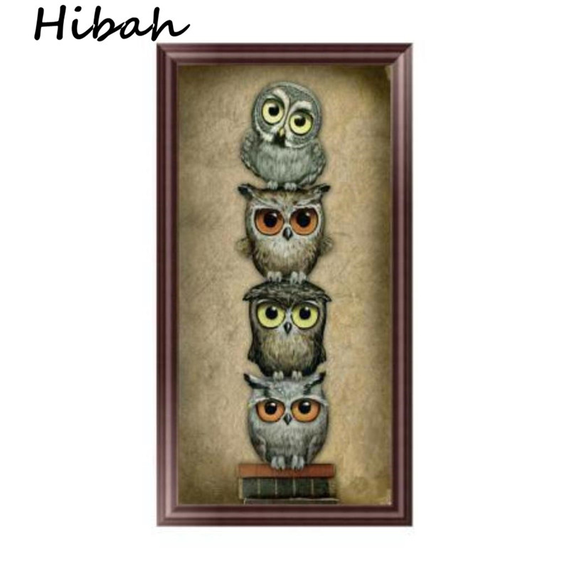 5D DIY New Animal Owl Diamond Embroidered Diamond Picture Stitch Embroidered Picture Rhinestone Round Diamond Mosaic Set image