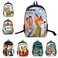 2017 Hot Zootopia Nick Judy Sloth School Bags Satchel Mochila 3D Cartoon Orthopedic Children Backpack For Boys Girls