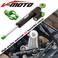 High quality CNC Universal Aluminum Motorcycle Damper Steering Stabilize Safety Control For Kawasaki NINJA 400 300/R/Z300
