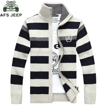 AFS JEEP 2017 New Arrivals Casual Sweater Men Striped Christmas Sweater Windbreaker Warm Cheap-clothes-china Cardigan Men