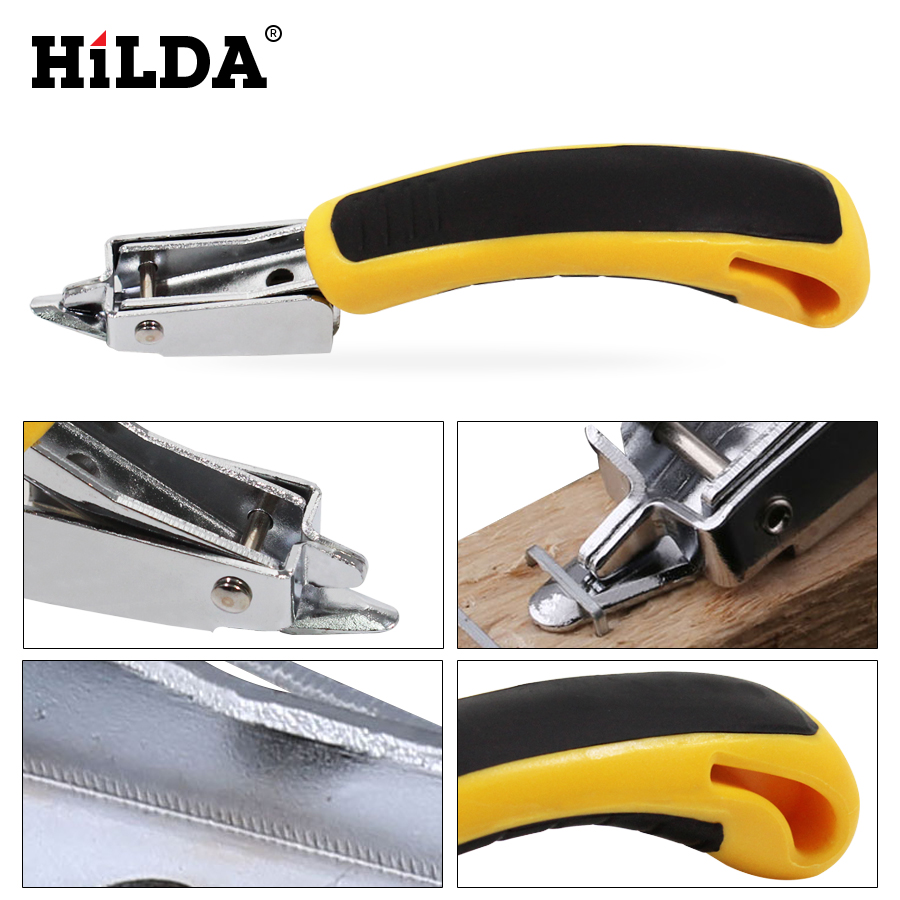 HILDA Multitool Nail Staple Gun Furniture Stapler For Wood Door Upholstery Framing Rivet Gun Kit Nailers Removing Tool