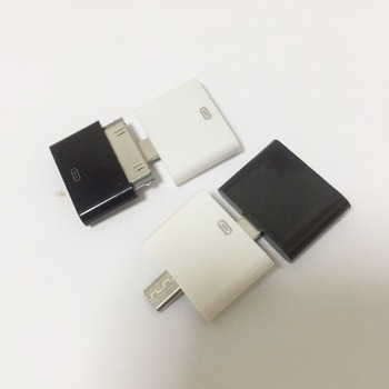 цена на Mobile Phone Adapter for iphone 4 to for iphone 5 / Micro USB Female to 30 Pin Charging Adapter Converter Cable Charger Adapter