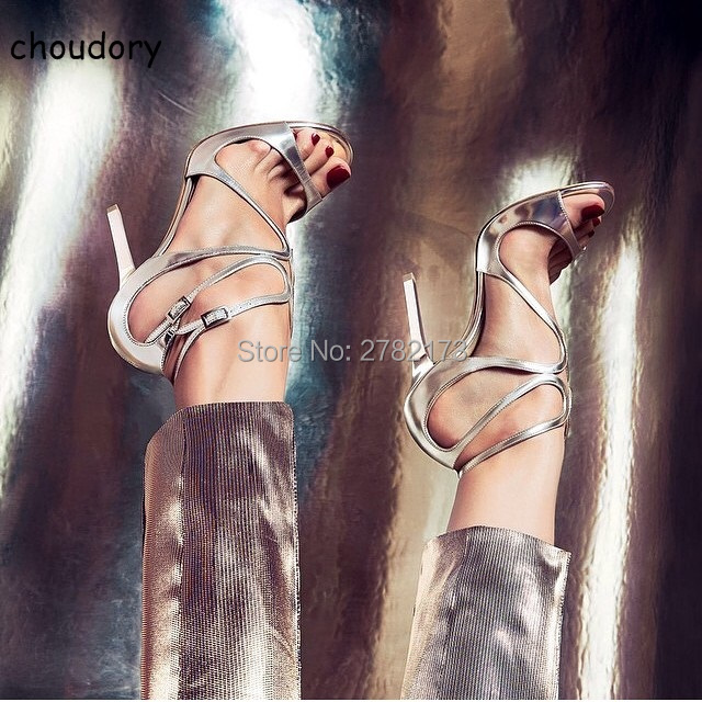 Hot Sale Leather Strappy Lace Sandals Women Party Dress Shoes Woman Open Toe Cut-Outs Buckle High Heels Gladiator Sandals Women hot sale open toe high heel sandal lace up gladiator strappy sandals new arrival spring autumn flock dress shoes women
