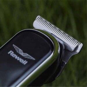 Image 5 - <חכם מגע + בקרת מהירות> מקצועי חשמלי קליפר שיער גוזם זקן גילוח שיער מכונת חיתוך עבור גברים בארבר תספורת