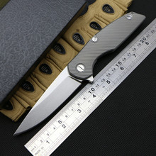 Green thorn 111 model folding Flipper knives D2 blade titanium Handle Survival knife Tactical camping hunting Pocket Tools