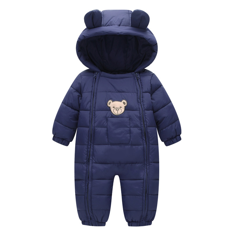 2017 NEW Baby Rompers Winter Thick Warm Baby boy Clothing Long Sleeve Hooded Jumpsuit Kids Clothes Newborn Baby Girls Outwear