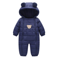 2017 NEW Baby Rompers Winter Thick Warm Baby Boy Clothing Long Sleeve Hooded Jumpsuit Kids Clothes
