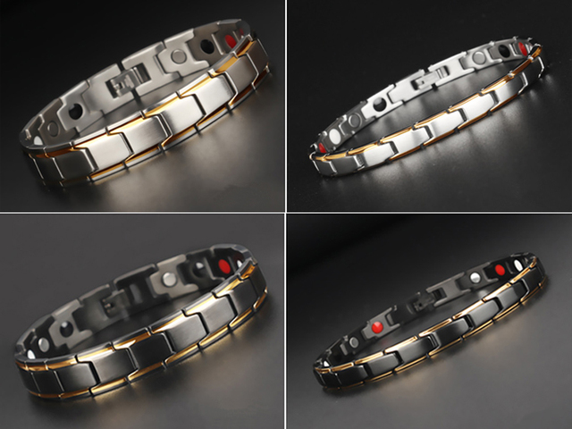 Healthy Magnetic Titanium Steel Power Therapy Magnets Bracelet