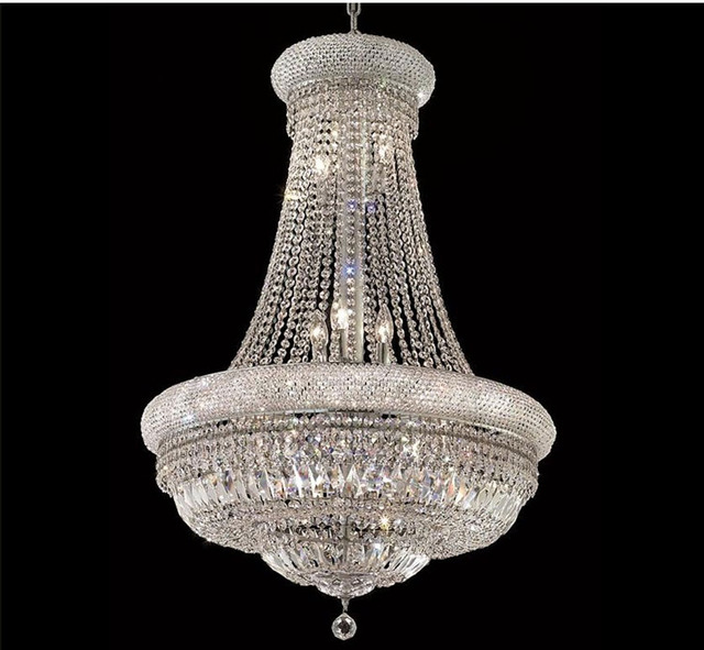 Phube Lighting French Empire Gold Crystal Chandelier Chrome Chandeliers Modern Lightfree Shipping 3