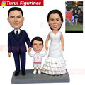 Пользовательские поплавок персонализированные головы поплавок куклы глиняная кукла Семья из 3 ручной в руке фигурки поплавок куклы персон...