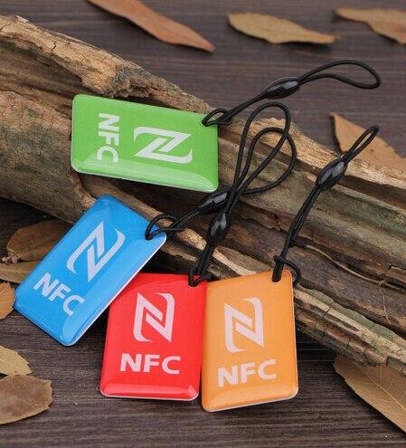 (4 pcs/lot) Waterproof NFC Tags NDEF Ntag216 13.56mhz RFID Smart Card for Samsung Galaxy S5 Sony Nokia Nexus7 LG HTC Xiaomi