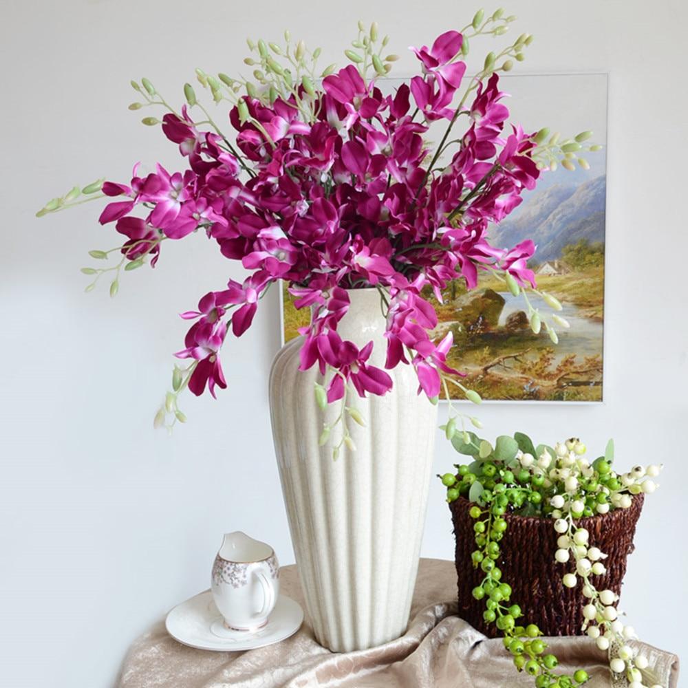 US $21.0 |Neue 10 teile/los Künstliche einzigen zweig kleine ausländischen  orchideen wohnzimmer schlafzimmer blume anordnung hochzeit blumen ...
