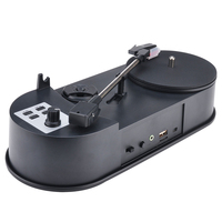 Portable Vinyl Turntable Record Player 33/45RPM LP Turntables to MP3 Converter Save Music to USB/SD With Speaker