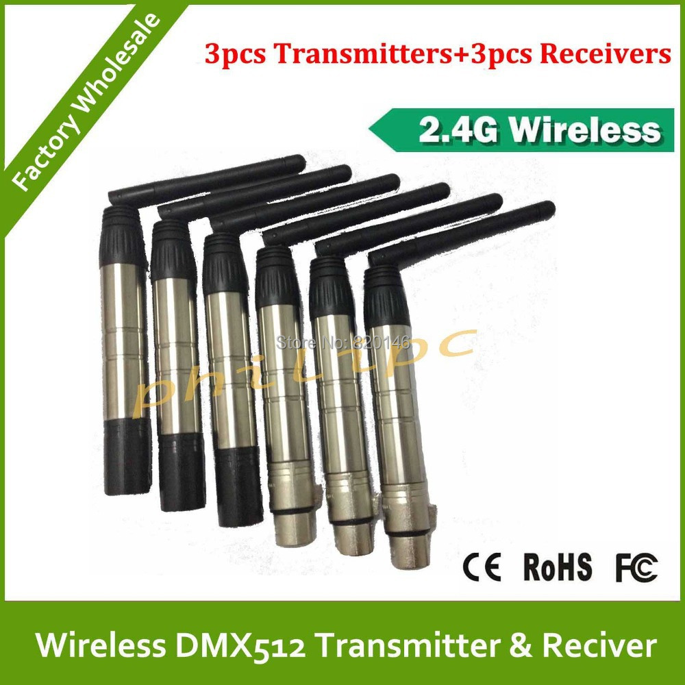 DHL free shipping 2 .4G Wholesale  wireless DMX controller transmitter+receiver, Wireless Controller henglong rc car 2 4g transmitter receiver 2 4g radio controller receiver 2 4g remove controller receiver free shipping