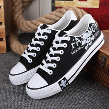 Free shipping spring and autumn new fashion canvas casual men shoes lace-up muffin bottom skull espadrilles zapatos hombre