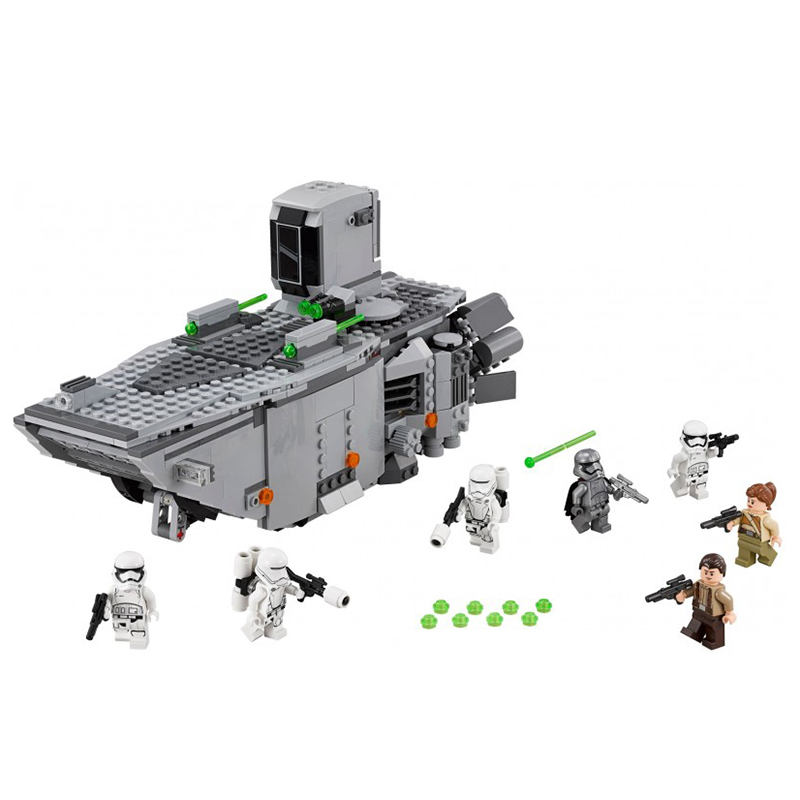 845pcs First Order Transporter Star Series War Block Toys Education Assembled Gifts For Children Compatible Lepin 05003