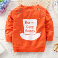 2016 autumn and winter children's fashion Cartoon hat cotton round neck sweater boy pullover printing letters