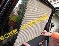 Cor bege 2 pcs automática retrátil janela lateral cortina carro sol shading cortina Stoopable automática Blinds grátis frete