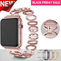 Apple Watch Band For 38mm 42mm New Elliptical Style Stainless Steel Smart Watch Band For Apple
