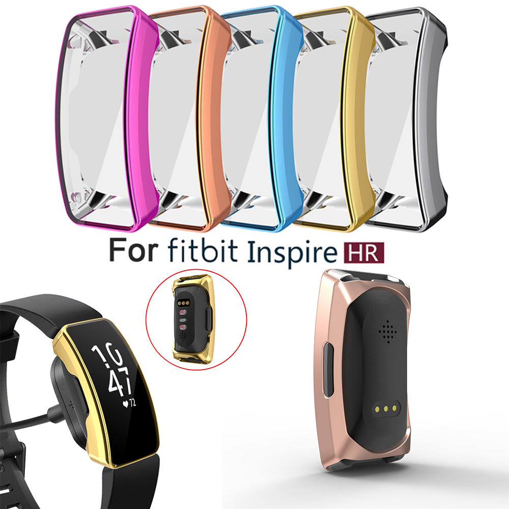 TPU Watch Case Smart Band Protective Cover Film Shell For Fitbits Inspire & HR Soft Silicone Shell Smart Band Protective