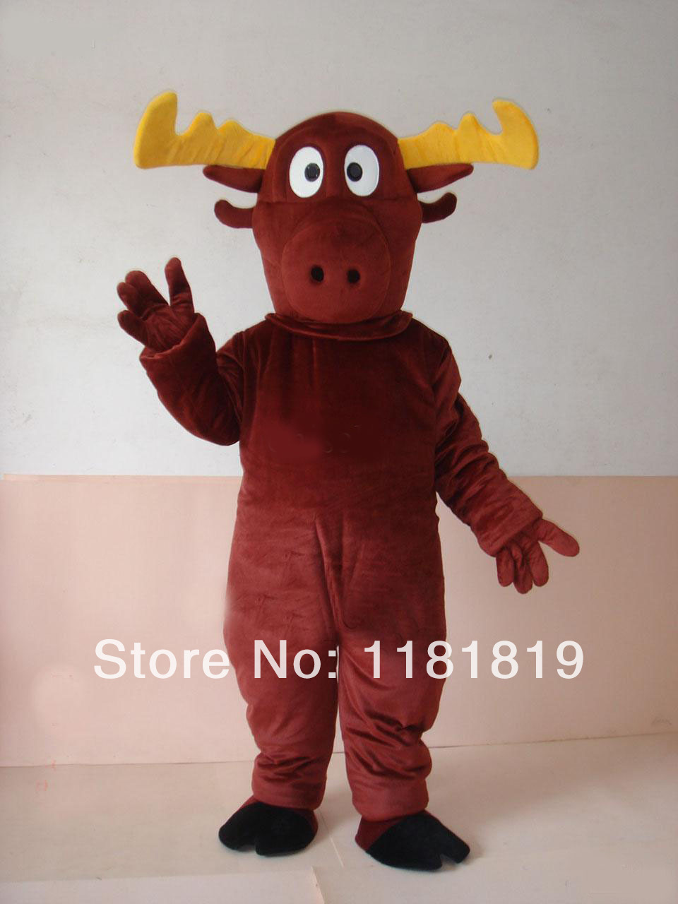 reindeer moose deer mascot costume hot sale adult size halloween