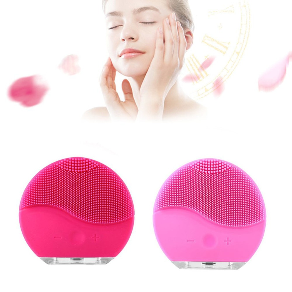 NEW Ultrasonic Electric Facial Cleansing Brush Face Washing USB Vibration Skin Blackhead Removal Pore Cleanser Silicone Massager