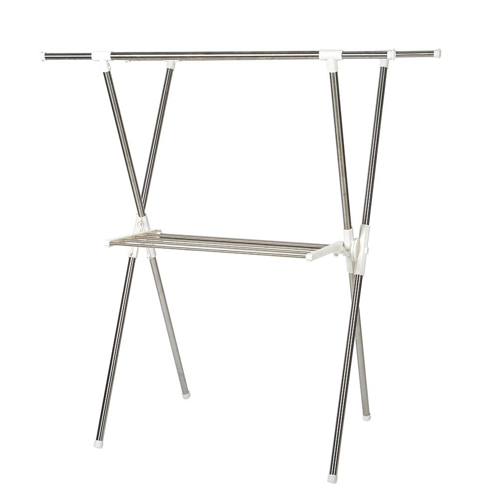 2 tier clothes drying rack x shape foldable clothing rack sturdy adjustable garment rack laundry