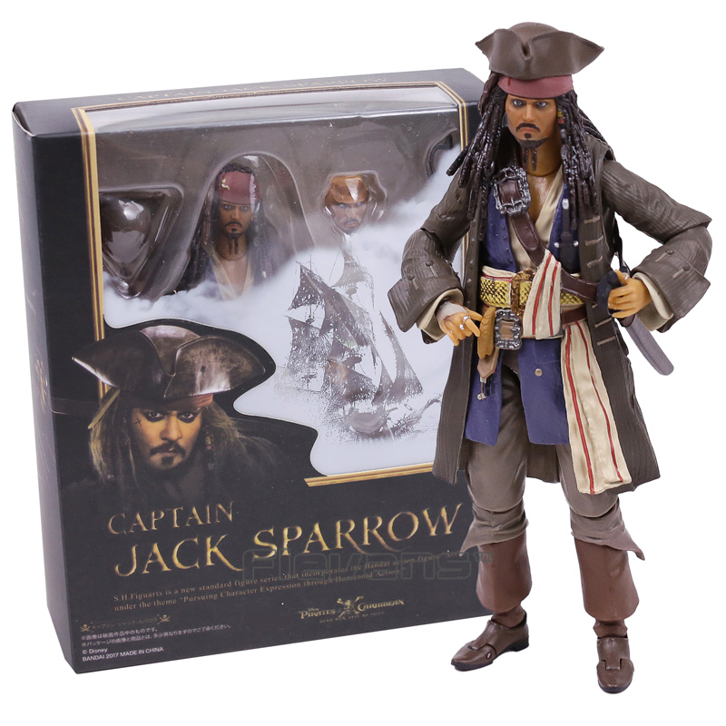 SHFiguarts Pirates of the Caribbean Captain Jack Sparrow PVC Action Figure Collectible Model Toy with Retail Box new hot christmas gift 21inch 52cm bearbrick be rbrick fashion toy pvc action figure collectible model toy decoration