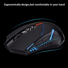 Original ET X-08 2400 DPI Adjustable 2.4G Wireless Gaming Mouse 7 Buttons Scroll Wheel LED Optical Mice For PC Computer Laptop